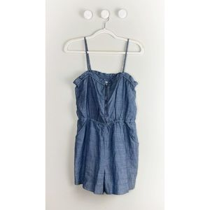 NWT Madewell Chambray Zip Front Romper
